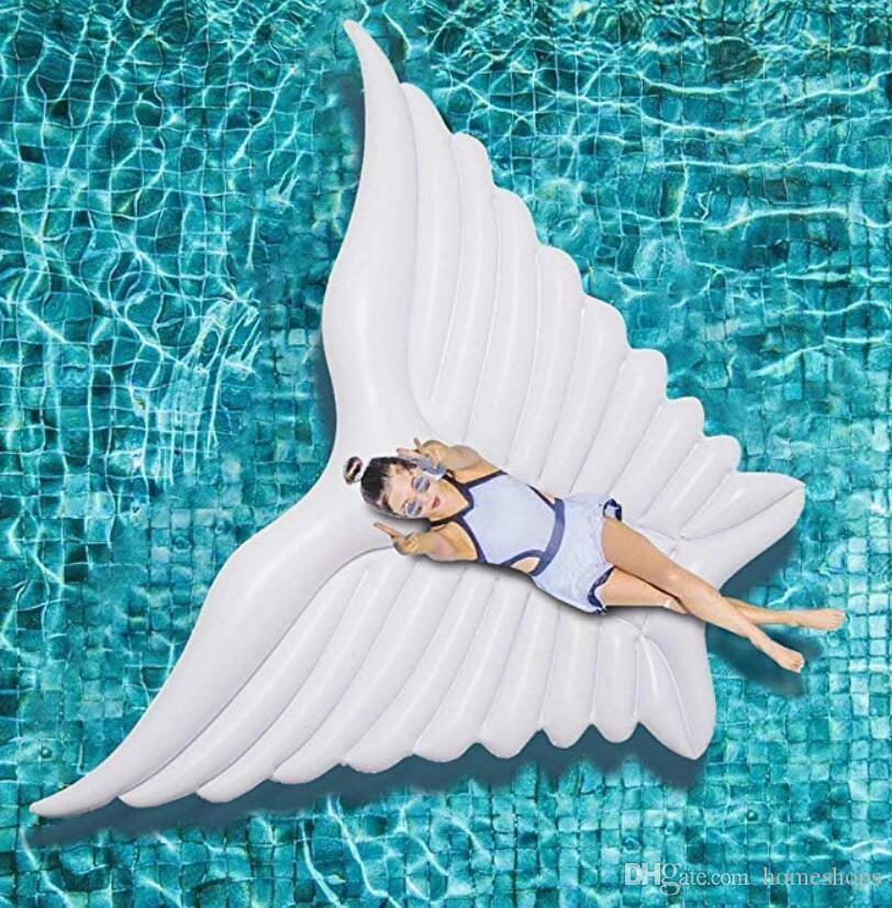 نفخ أجنحة بركة تعويم ، العملاق عطلة نفخ الملاك العائمة سرير في الهواء الطلق بركة سباحة تعويم حزب صالة الطوافة ديكورات اللعب