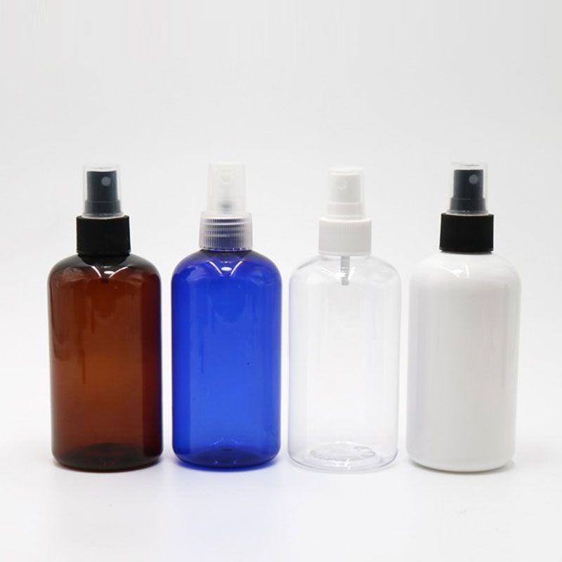 البلاستيك رذاذ Atomiser زجاجة 250ml الاتحاد قابلة لإعادة التعبئة زجاجات فارغة جولة ضباب بخاخ مضخة البخاخة لمستحضرات التجميل التعبئة 24PC / الكثير