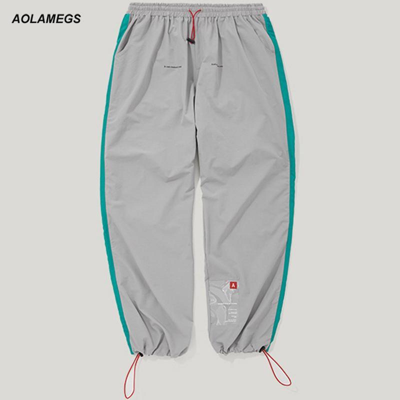 도매 남자 트랙 바지 패치 워크 멀티 포켓 스웨트 패션 캐주얼 신축성 허리 조수 남자 하이 스트리트 바지 Streetwear
