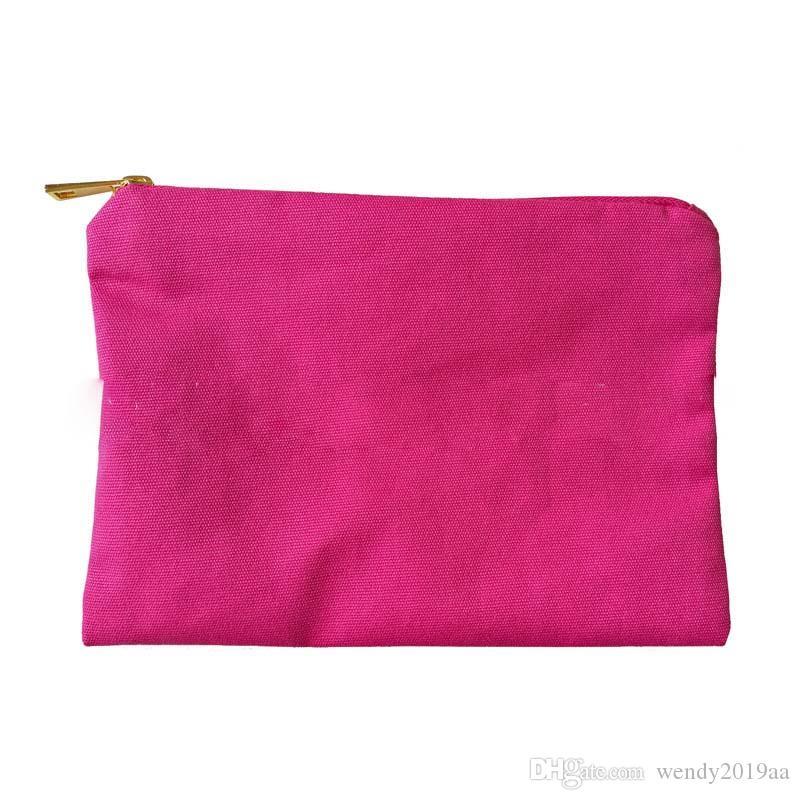 50pcs 7x10inch سستة قماش الحقيبة حقيبة ماكياج التجميل الحقيبة أدوات الزينة حالة مزيج اللون
