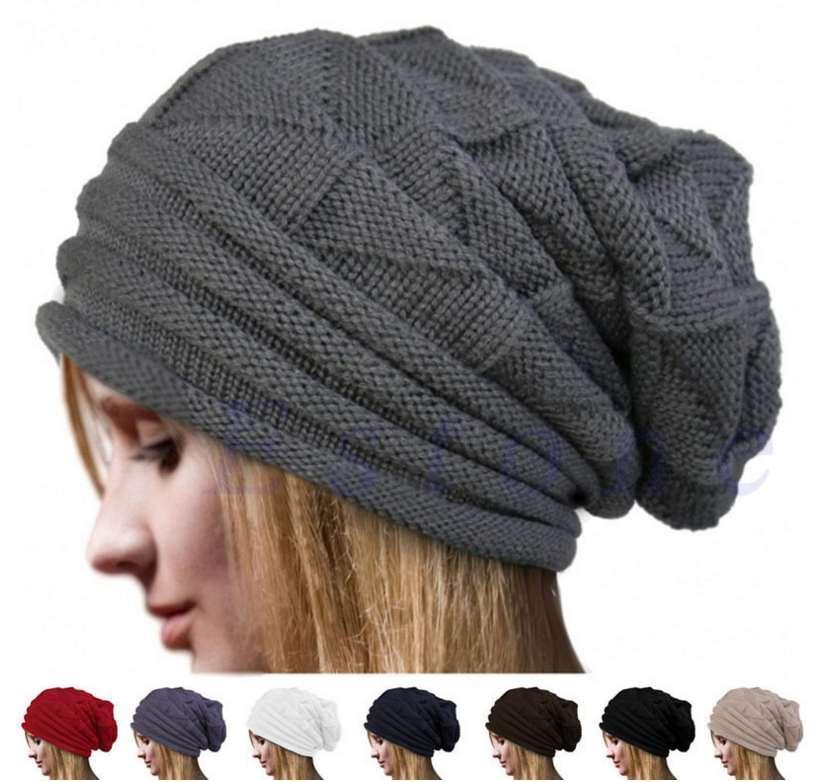 Female Spring Autumn Bonnet Hats Women's winter Slouchy Beanie Autumn Winter Christmas Top Quality Knit Cap New Fashion