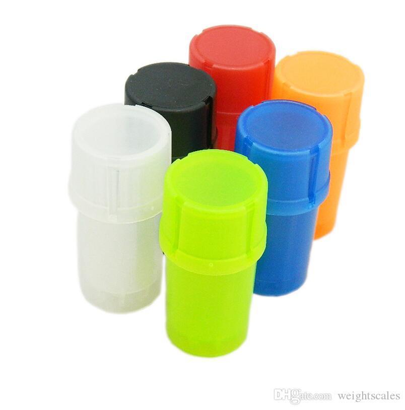 플라스틱 담배 용기 DHL 무료 배송 110pcs와 흡연에 대한 다채로운 저렴한 protable 허브 그라인더 담배 건조 허브 분쇄기