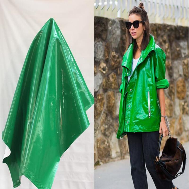 Green mirror pu lether fabric Elastic force magic color laser TPU clothing Waterproof PVC sofa coat diy textiles fabric,D172