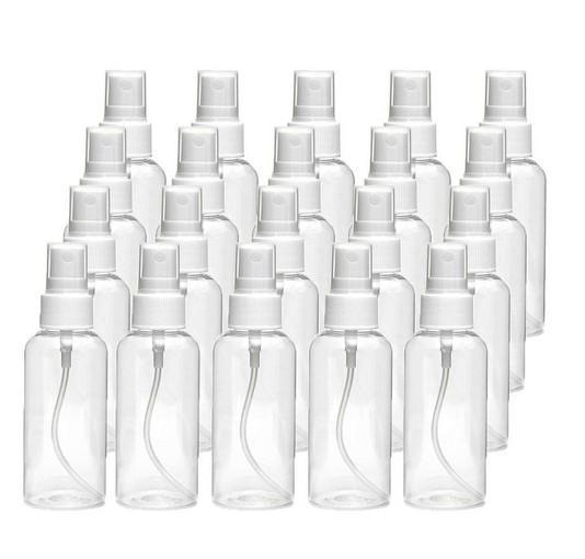 30 مل (1OZ) من البلاستيك الشفاف رش رذاذ زجاجة، زجاجة شفافة السفر، محمولة إعادة الملء رذاذ البخاخ زجاجة للسفر، تنظيف، ESSENTIA