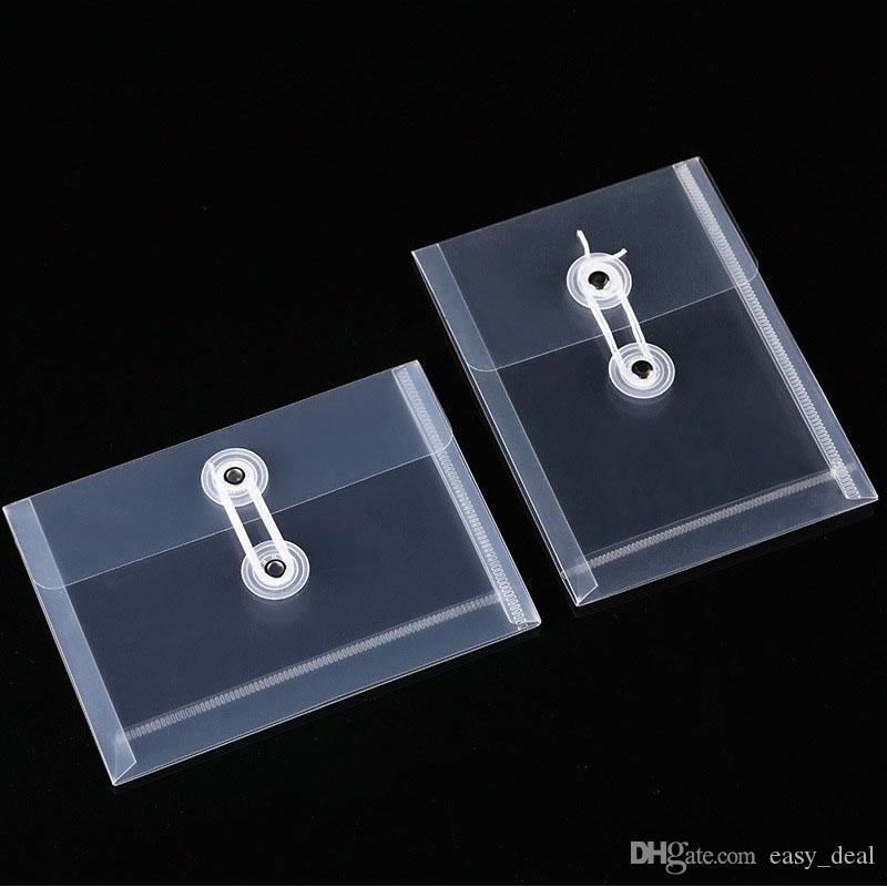 ملف مجلد A6 بلاستيك شفاف حقيبة وثيقة حبل الإبزيم تصنيف ورقة وزارة الداخلية حقيبة التخزين ZC1699