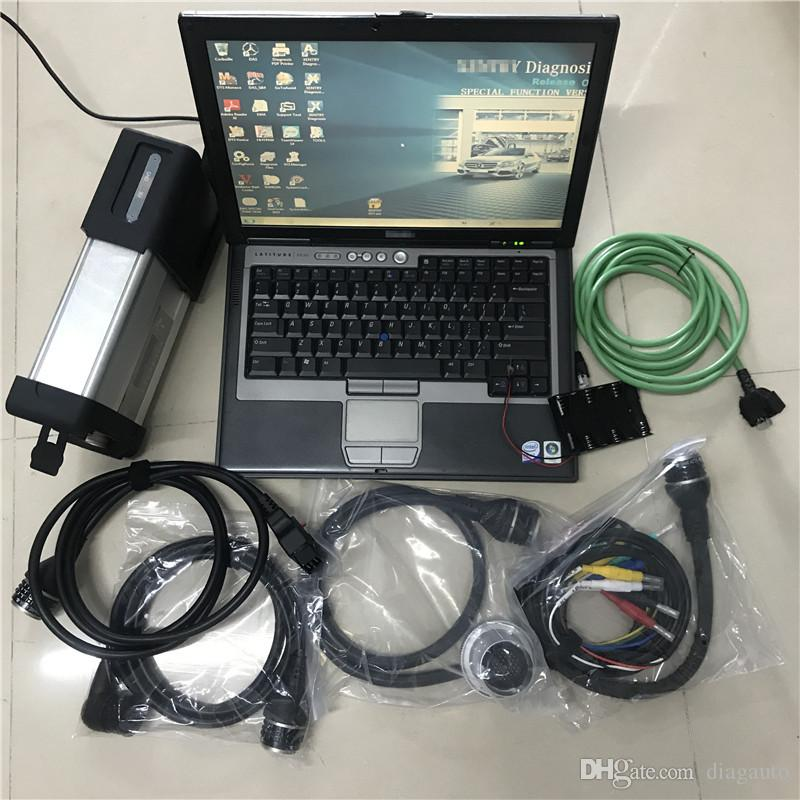 Meilleure qualité MB STAR C5 NOUVEAU 2021.03V STAR C5 Diagnostic Soft-Ware MB SD Connect C5 avec ordinateur portable D630 pour camion de voiture Diagnostic + wifi