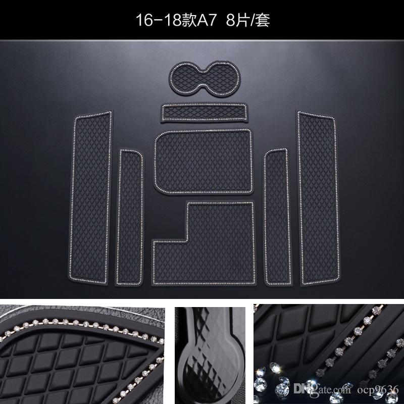 Для AUDI A7 Нескользящие коврики Ворота слот коврик Интерьер ПВХ Резиновые двери Pad / Кубок Мат
