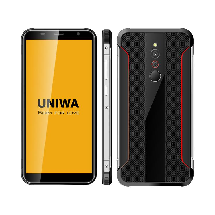 Uniwa X5 Smart Phone Rugged Style 5.5 inch IPS screen Quad Core 1GB 16GB Rom android 6.0 smartphone