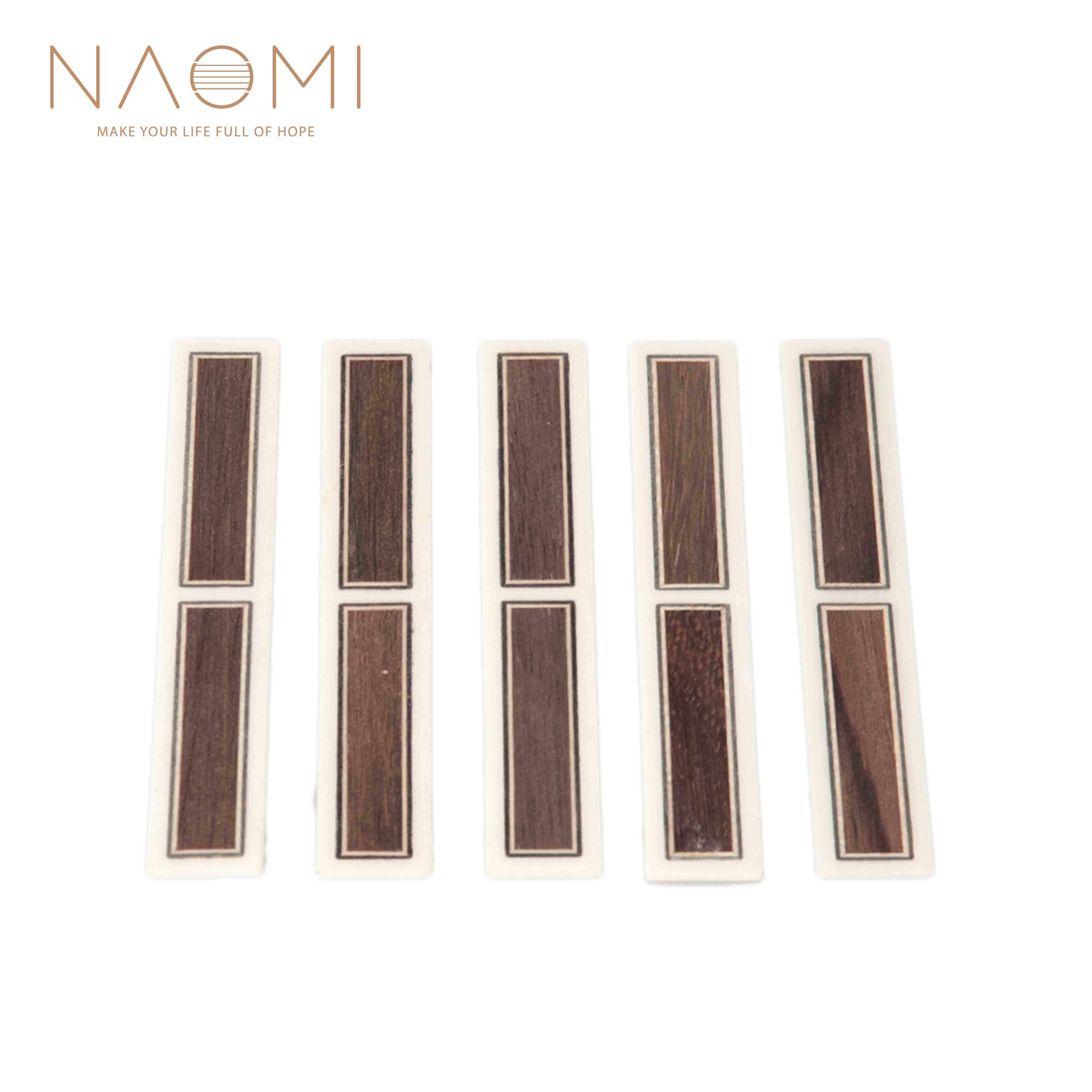 NAOMI 5 Piece 클래식 기타 브리지 타이 블록 Inlay Bone Frame 시리즈 기타 부품 새로운 NA-22