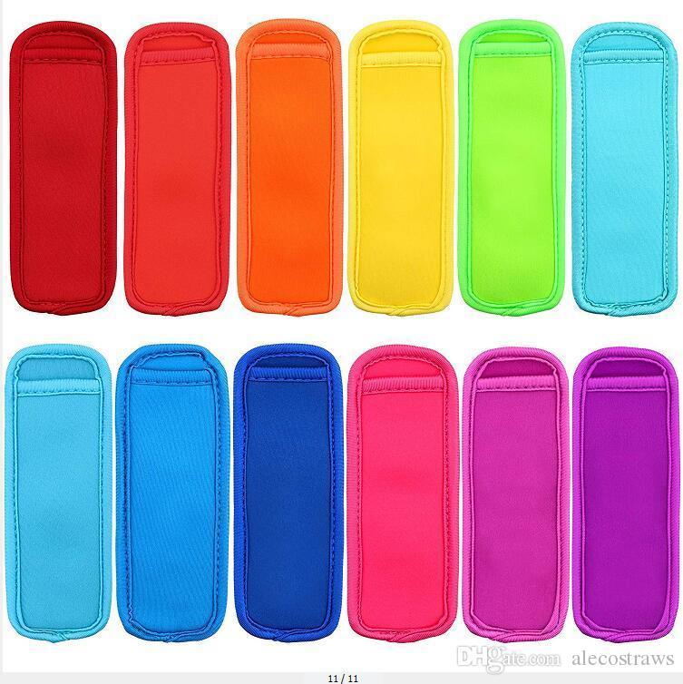Congelador de neopreno Soportes de aislamiento Bolsas de cocina Popsicle Popsicle Reutilizable Hielo Pop Bag Niños para mangas Verano AC11 Herramientas Antifreezing Fequreezing