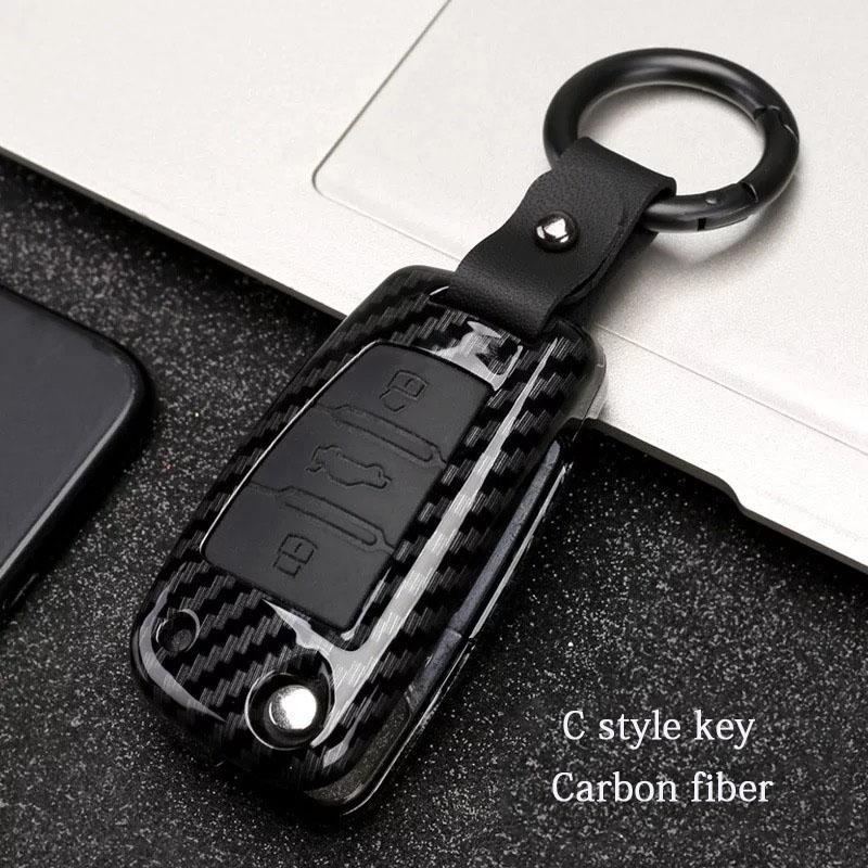 Araba Styling Aksesuarları Anahtar Çanta Kapak ABS Dekorasyon Koruma Anahtar Durumda Anahtarlık Audi A6 RS4 S5 A3 Q3 Q5 S3 A4 Q7 A5 TT 2018