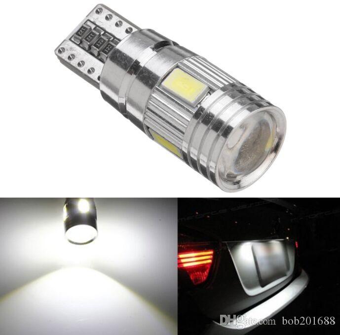 T10 W5W 501 194 5630 6SMD Bianco Canbus Error Free LED Indicatore di direzione laterale Luci a bulbo