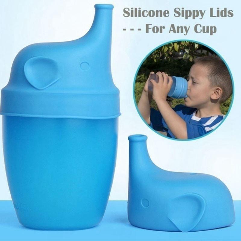 Silicone Sippy coperchi Elephant a forma di tazza della copertura Reuseable coperchio a perfetta tenuta della tazza per i bambini della bottiglia di acqua Brinkware Strumenti 5 colori 20pcs WWY1083