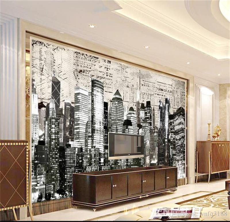 3d photo wallpaper custom size mural retro city nightscape picture livingroom bedroom sofa TV backdrop 3d wall mural wallpaper for wall 3d