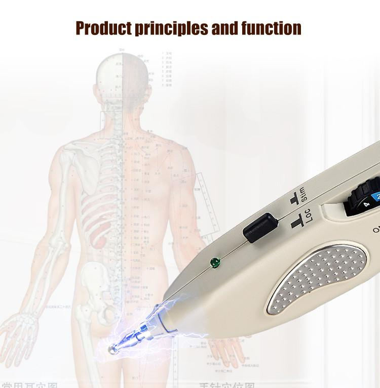 English User Manual smart Acupoint Detection Acupuncture Meridian Pen Massage Device Acupoint massage Health care