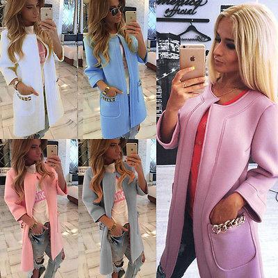2015 New style WOMENS Ladies coat jacket wrap surcoat Winter Warm Long Parka Coat Outwear Jacket SIZE S-XL