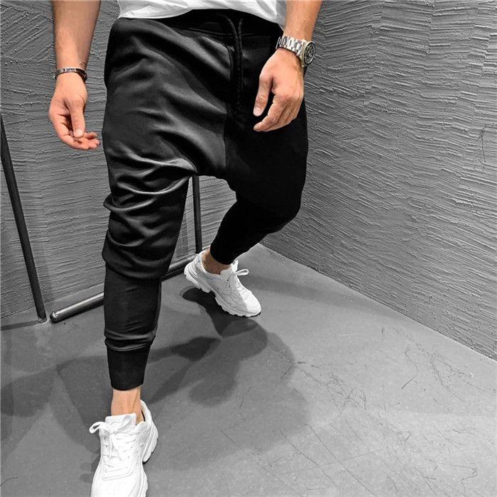 2020 Casual Pants Solid Color Pocket Homme Vêtements Mode Drawstring Sport Style Droit Pantalons Designer Hommes