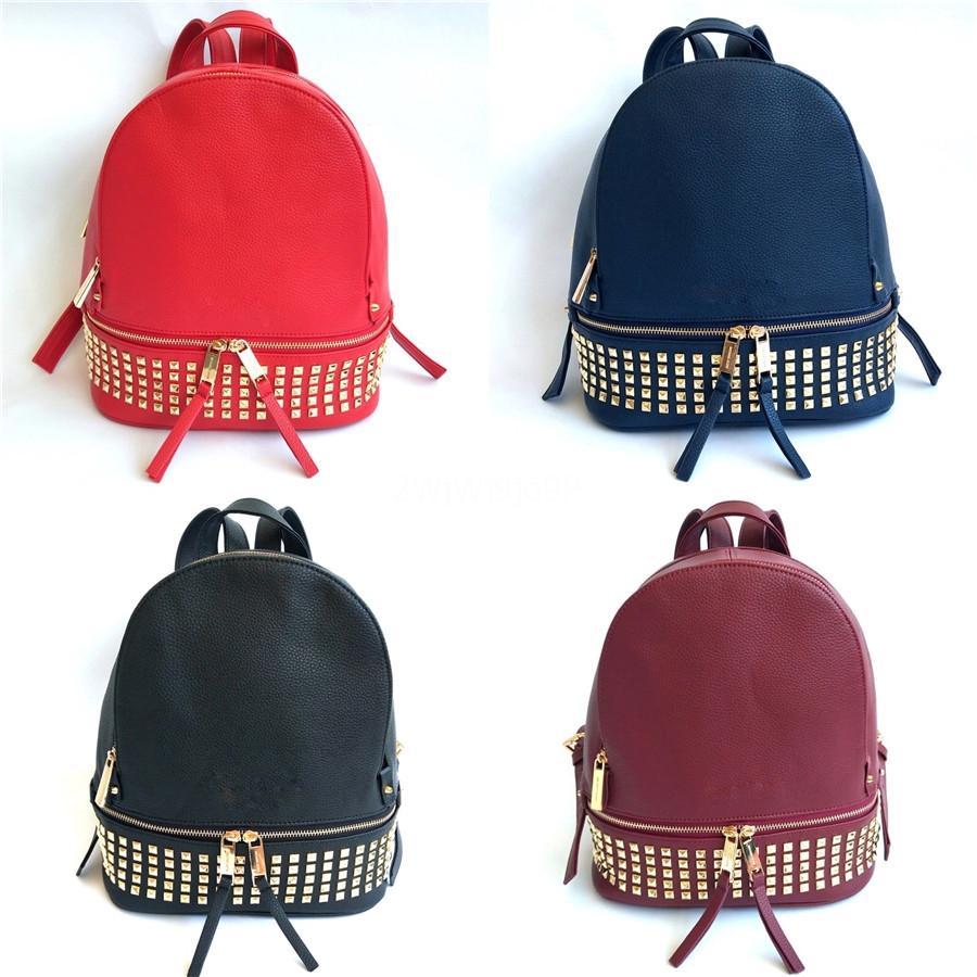 Classique Designer Femmes Shouder Sac 19cm Constance grenade émail rouge boucle Top cuir de luxe en cuir vachette Sac à dos Sac à dos Tote # 323