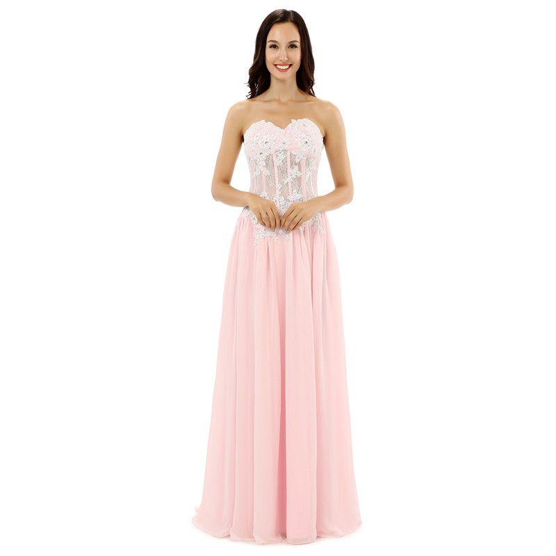 LG0218 сладкие розовые платья невесты без бретелек кружевная аппликация и свадебные платья с жемчужным бисером свадебное платье подружки невесты