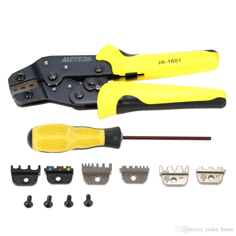 Professional Wire Stripper Crimper Cable Cutter Automatic Multifunctional Terminal Stripping Crimping Pliers Tools