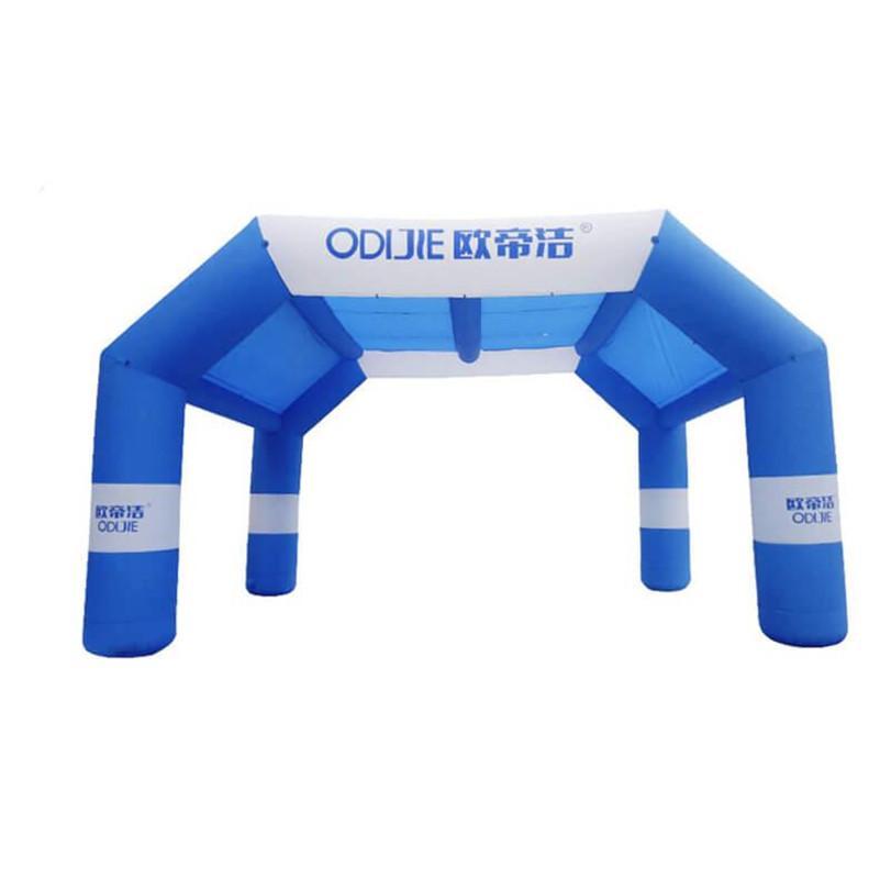 Evento inflable arco inflable Arco túnel Carpa Logo Publicidad exterior encargo de impresión Base soplador Dia1.1xW12xH5.6xD3.8M buena