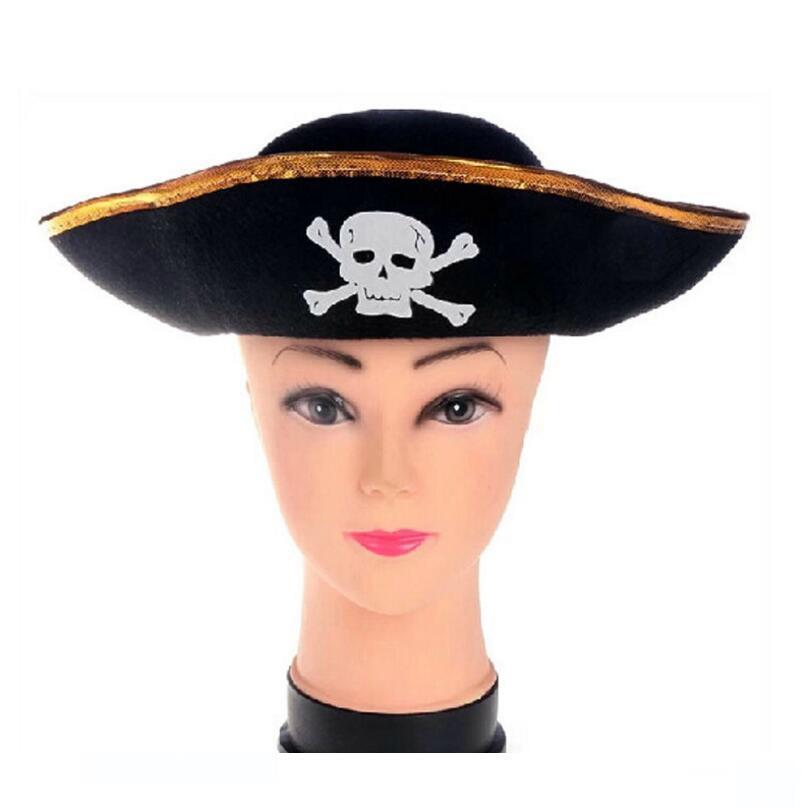 Pirata chapéu para crianças das mulheres dos homens das meninas do Caribe Hats Fancy Dress Party Hat