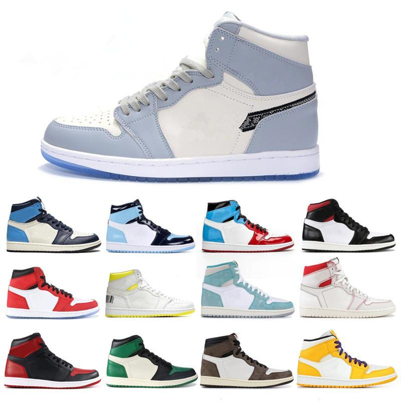 Jumpman 1 1s tênis de basquete Sneakers Atletismo Sapata Running For Women Sports Torch Hare Jogo Real Pine Green Court 36-47