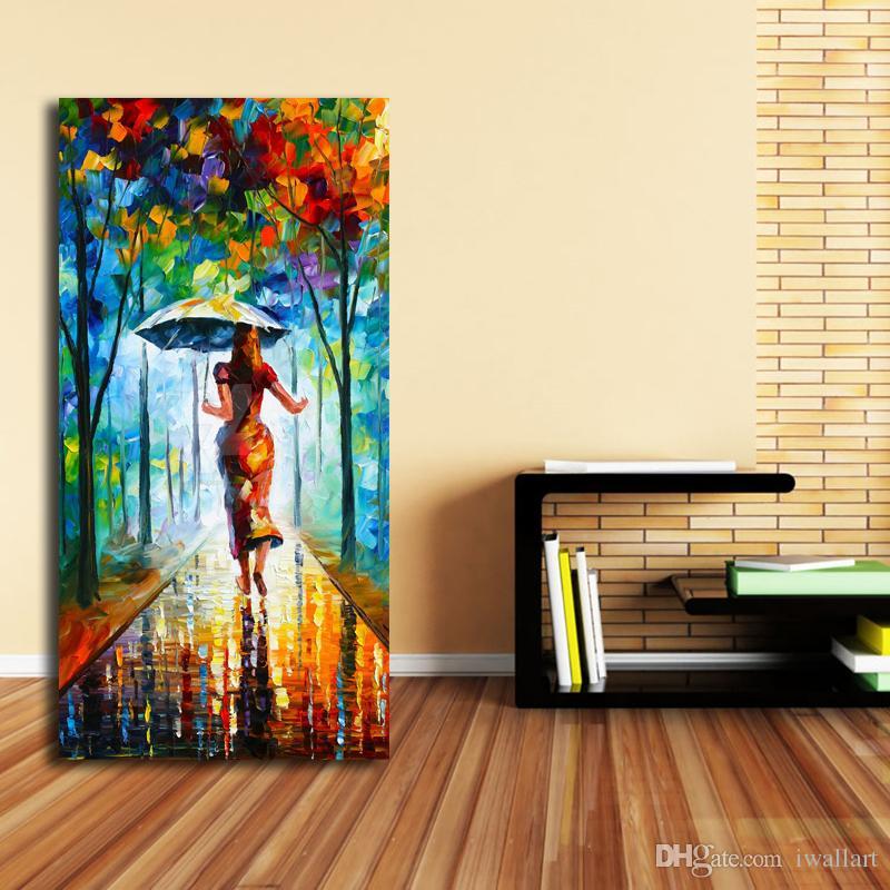 In esecuzione verso l'amore HD Wall Art Canvas Poster e stampa Tela pittura a olio immagine decorativa Ufficio soggiorno camera da letto Home Decor