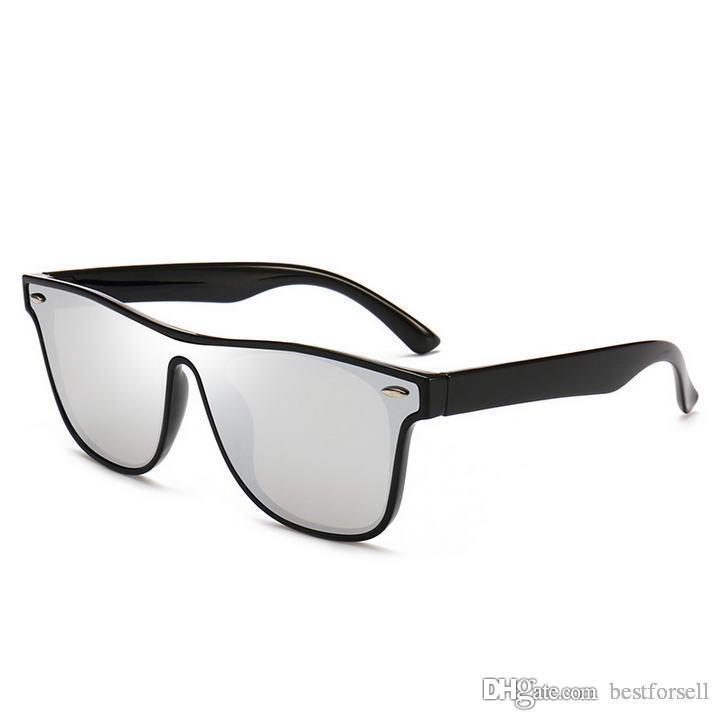 Moda Quadro Completo Óculos de Sol Mens Verão Verão Óculos de Sol Espelhado Eyewear de Alta Qualidade UV400 Tons com casos