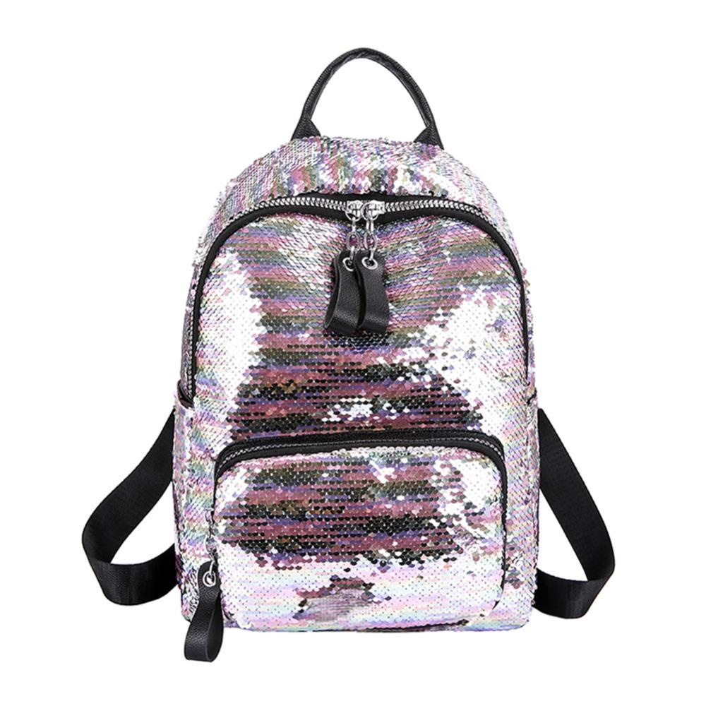 2019 Shining Sequins Backpack Women Backpack School For Girl Travel Large Capacity Bags Party Bags Glitter Backpack Mochila MX190708