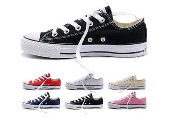 Qualidade SUPERIOR Preço de fábrica preço promocional! Sapatas de lona femininas e homens, alto / Baixo Estilo Clássico Sapatos de Lona Sapatilhas Sapato de Lona