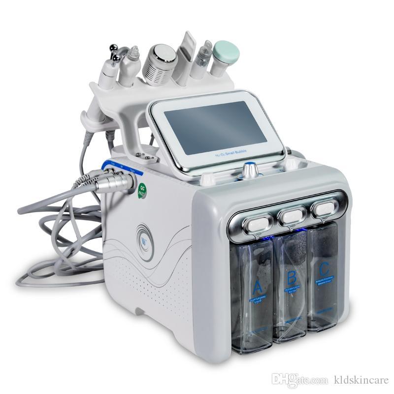 6in1 H2O2 pequena bolha de oxigênio Hydro-dermoabrasão equipamentos do Aqua Peel Water Jet Peel H2O2 Cuidado Facial Dispositivo Spa Uso