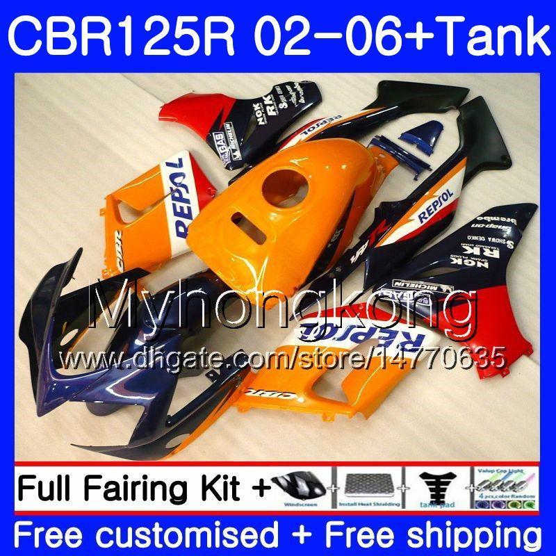 ボディ+タンク用Honda CBR-125R 125CC CBR125RR CBR125R 02 03 04 05 06 272hm.0 CBR 125 2002 2002 2006 2006 2006 2006 2006 2006年フェアリングレポートブルーレッド