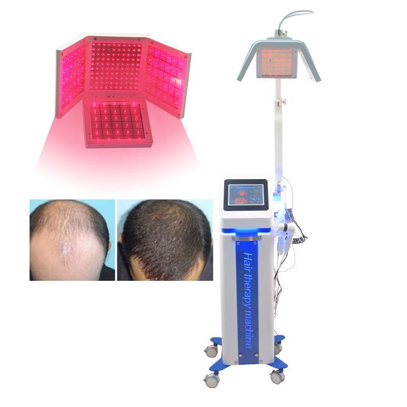 650 ㎚ 머리 성장 기계 아름다움 탈모 치료 모발 재성장 레이저 아름다움 기계 빗 브러시 캡 (5 개) 핸들