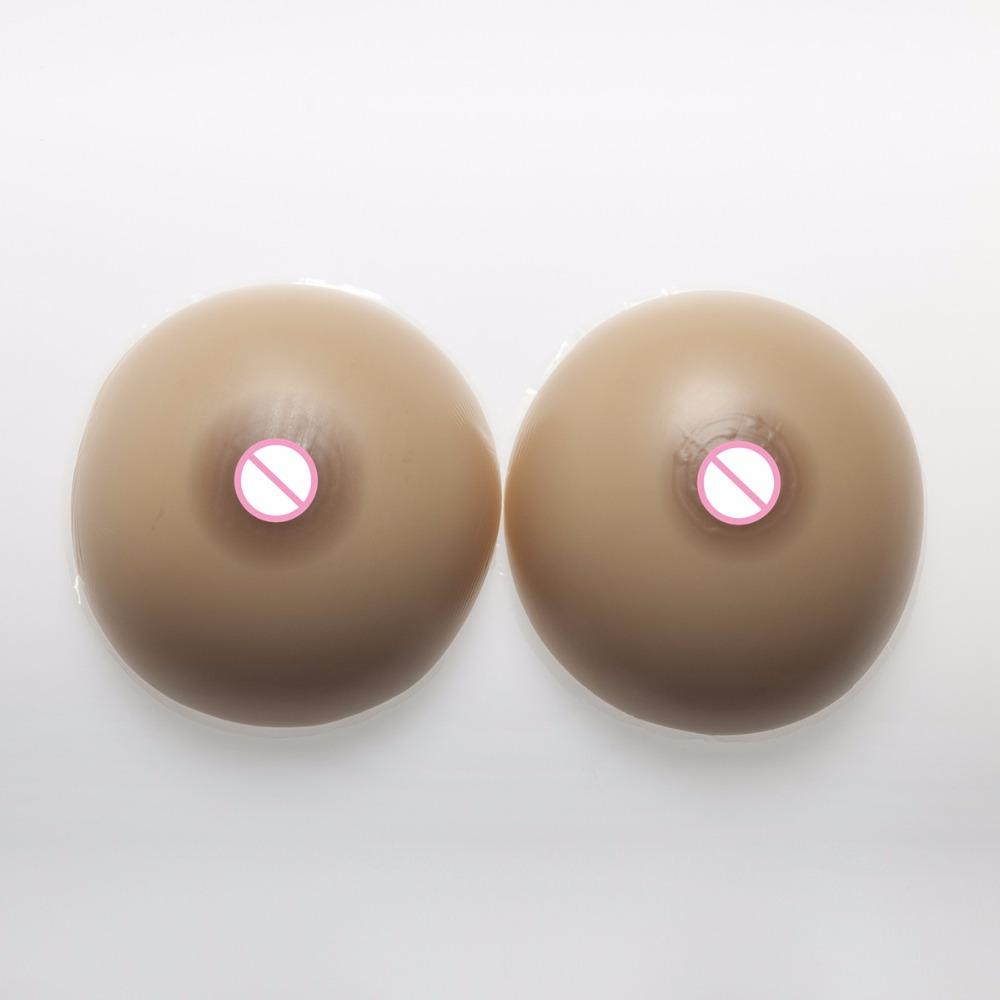 1000g/Pair Classic Round Fake Breast Drag Queen Shemale Silicone Breast Form Transgender Crossdresser Silicone Boobs Tits