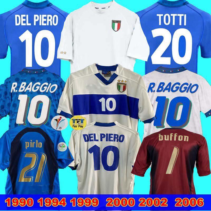 İtalya Retro JERSEY 2000 2002 2006 Kaleci Dünya cup1990 1999 İTALYA Retro ANA 1994 FUTBOL JERSEY Maldini Baggio Donadoni Totti Del Piero