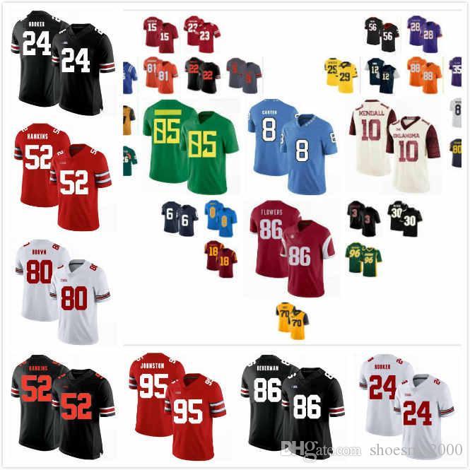 Özel Ohio State Buckeyes İşaya Pryor Jersey 28 Jashon Cornell 9 Davon Hamilton 53 Antwuan Jackson 52 Marcus Hooker 29 Shaun Wade 24 S-3XL