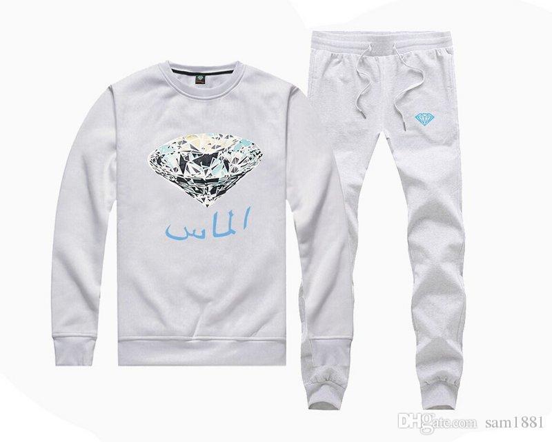 28870 Pull Coton Mélange Pantalon + Hoodies costume Hommes o-cou Sweat Mâle Casual Sports Homme s-5xl livraison gratuite