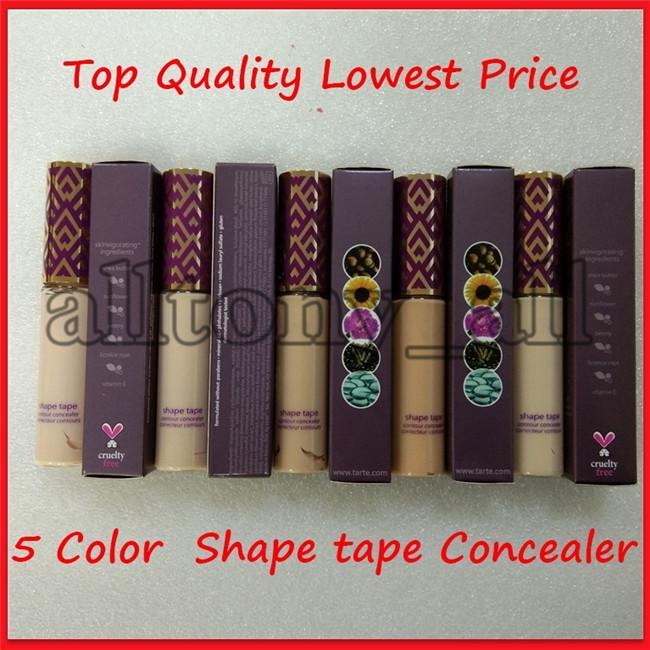 Lowest Price Shape Tape contour Concealer 5colors Fair/Light/Light medium/Light sand/Medium 10ml liquid foundation concealer pencil dhl ship