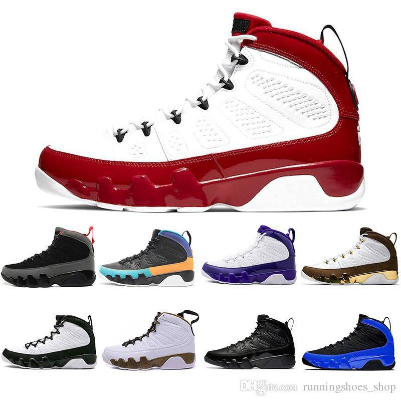 Il nuovo arrivo 9 9s Gambero Palestra Red Racer Blu Citrus mens scarpe da basket Olimpiadi di Los Angeles Bred UNC SE Florida Gators Melo Sneaker Sneakers