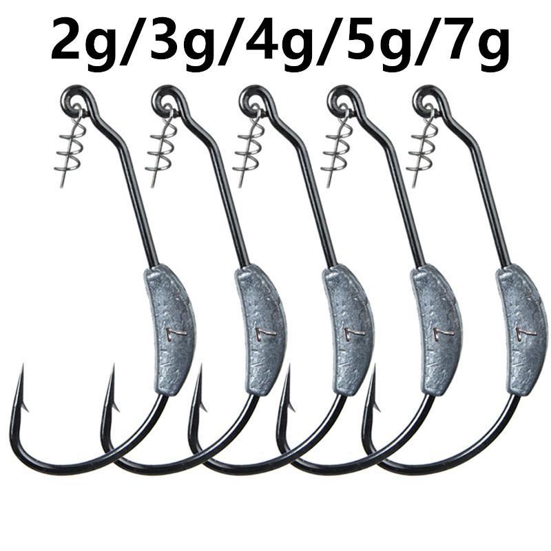 20pcs / серия 5 Размеры 2g-7g Crank крюк (с Lead) высокоуглеродистой стали рыболовные крючки Песка Карп рыболовные снасти KL_3