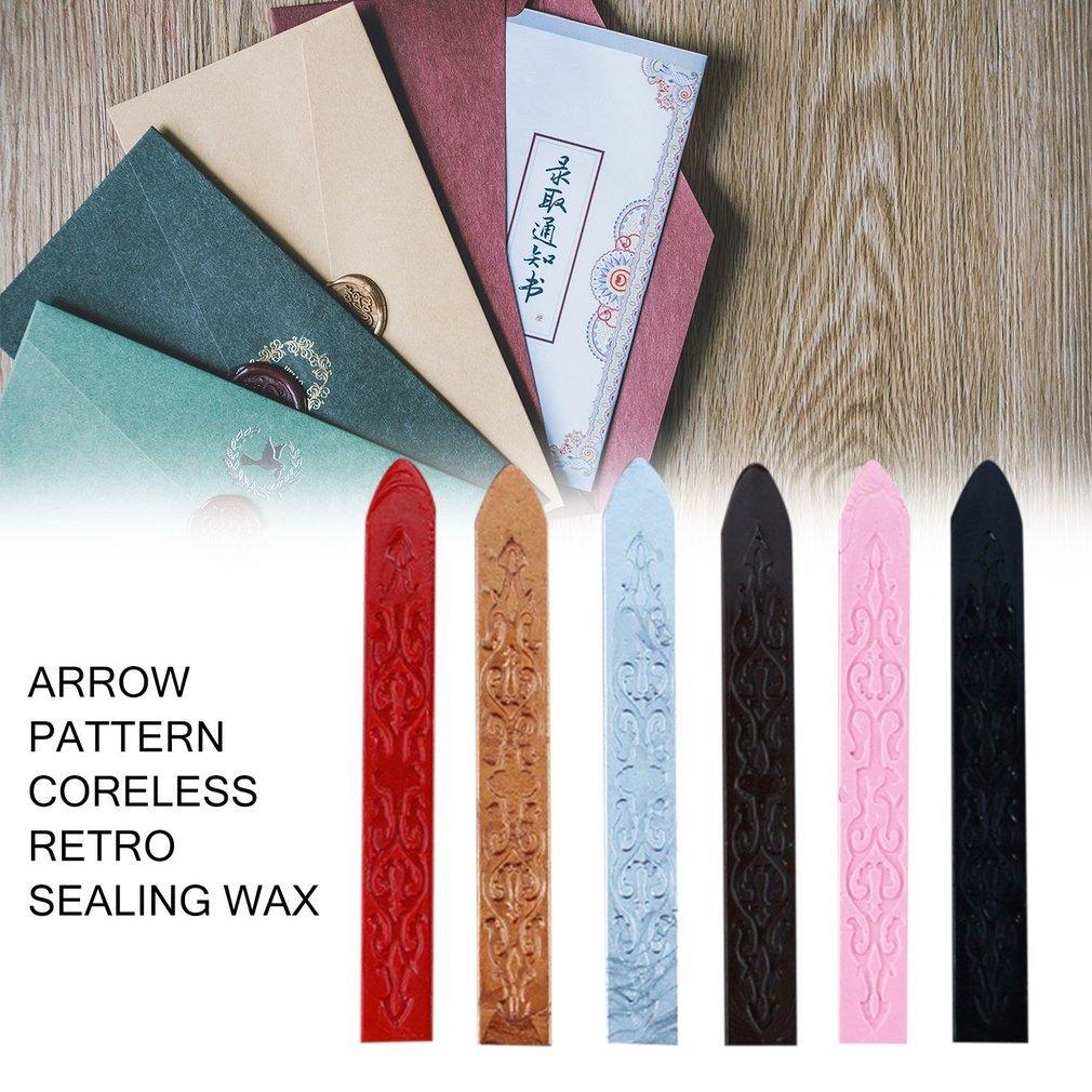 Antigos lacre Multicolor Arrows Vintage Pattern cera especial selado Cera Para Casamento Convite Cartão Envelope