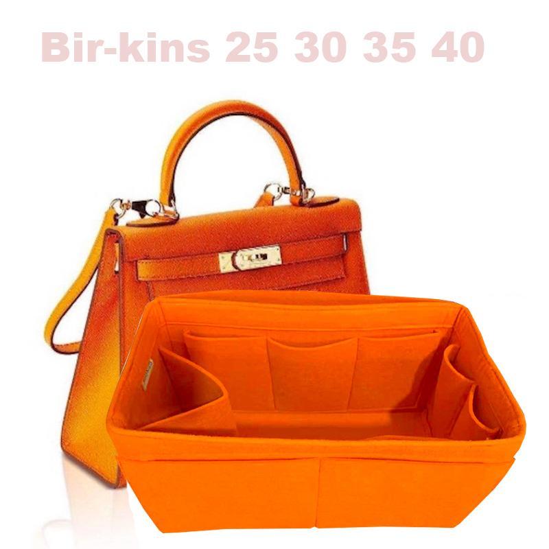 Passt für H Bir kins 25 30 35 40 Alle handgefertigten 3MM Filzeinsatz Taschen Organizer Make-up Handtasche Organisieren Sie tragbare kosmetische Grundform