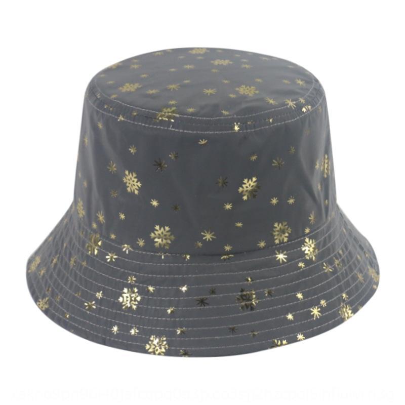 Gece yansıma kar tanesi yıldız balıkçı kadın kova kova şapka kişilik kısa saçak havza şapka erkek güneşlik