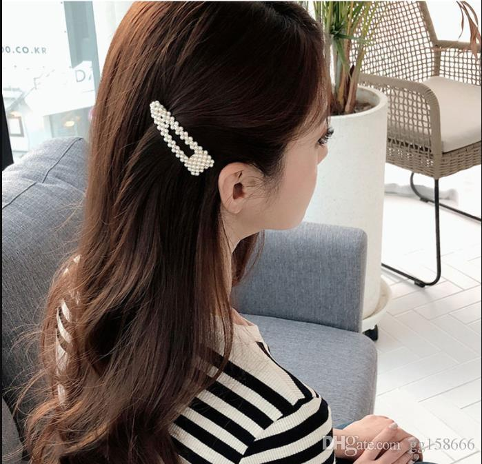 High Quality New Hair Pins Wedding Accessories Pearl Hairpins Flower Crystal Pearl Rhinestone Hair Pins Clips Hair Jewelry