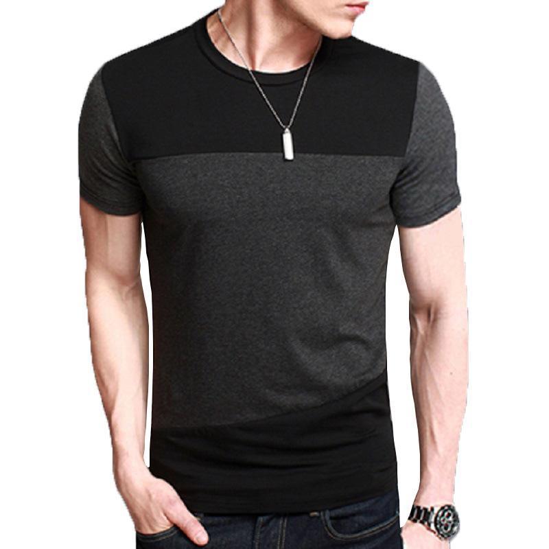 Mens T Shirt Slim Fit O Neck T-shirts Men Short Sleeve Shirt Casual tshirt Tee Tops Mens Short Size M-5XL Male T