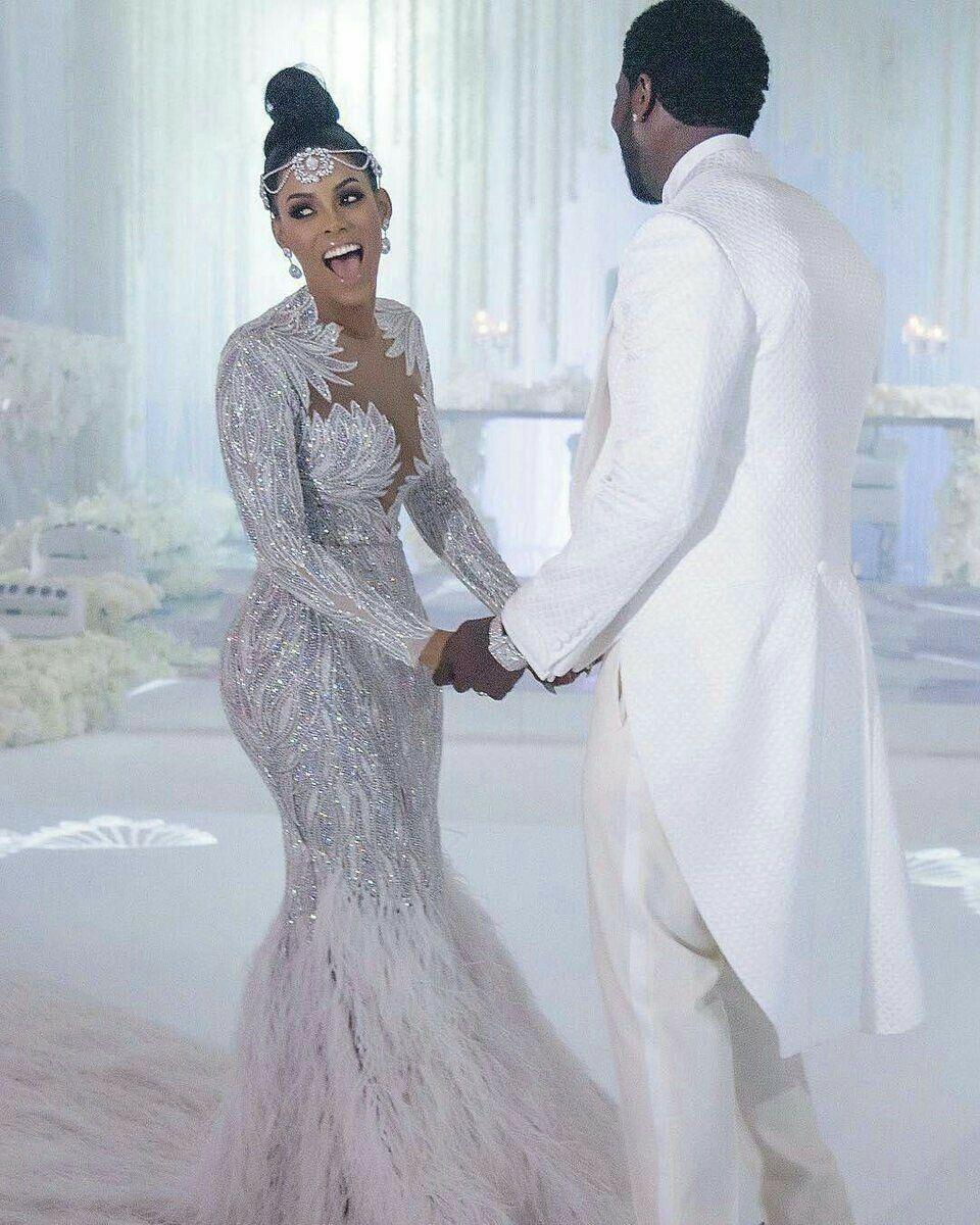 Вечернее платье Chraush Zoe Elie Saab Yousef Aijasmi Mermaid с длинным рукавом белое перо Zuhair Murad Kylie Jenner101