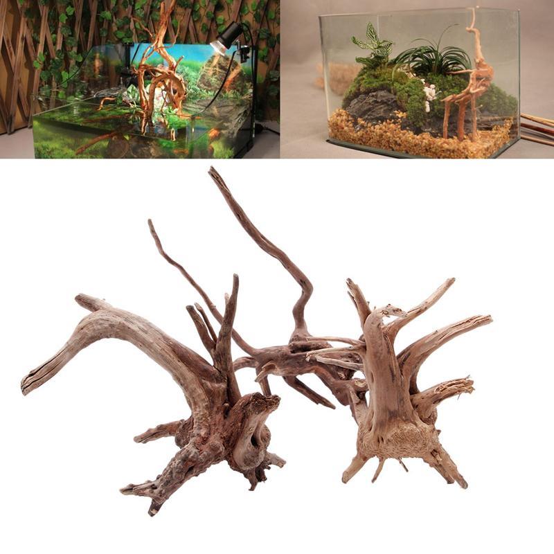 Holz-Fisch-Behälter Schwemmholz Natur Stamm Schwemmholz Aquarium Pflanze Aquario Aquarium Dekoration akvaryum Dekor