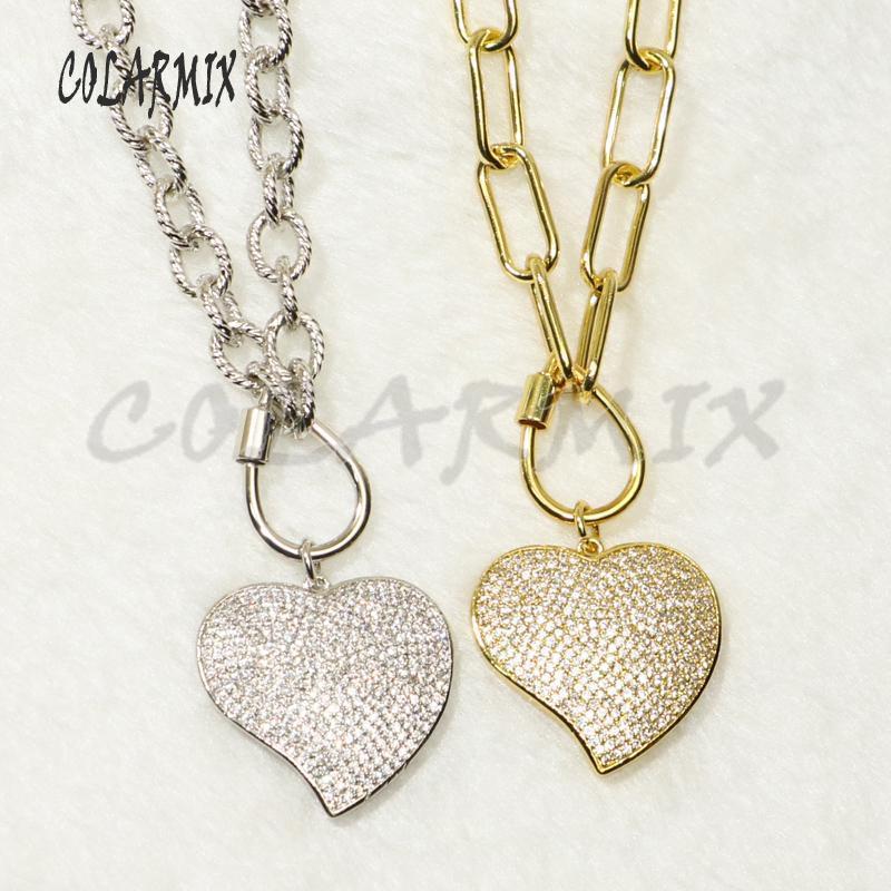 3 пряди сердце любви подвески ожерелья ссылки ожерелье качества Keep цвет циркон подвески аксессуары подарок для женщин 50382