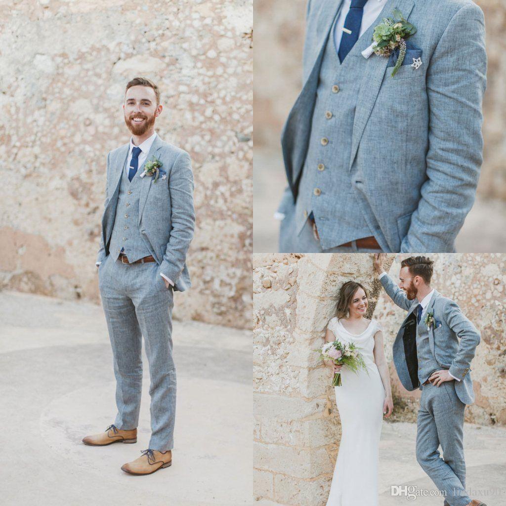 사용자 정의 만든 남자의 블루 턱시도 결혼식 정장 파티 신랑 3 조각 최고의 남자 정장 (자켓 + 바지 + 조끼) 핫 세일